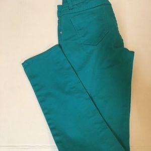 Greenish blue skinny leg Way jeans size 5